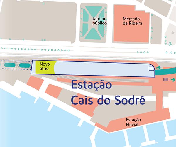 Remodelação estação Cais do Sodré