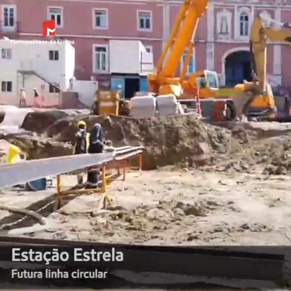 Estação Estrela: obras das estruturas de contenção
