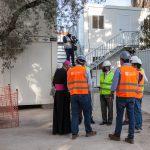 Bênção das imagens da Santa Bárbara nos estaleiros de obra da linha circular