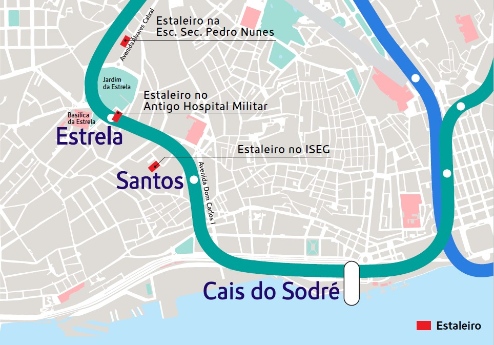 Expansão do Metro: Locais e horários de atividades ruidosas temporárias